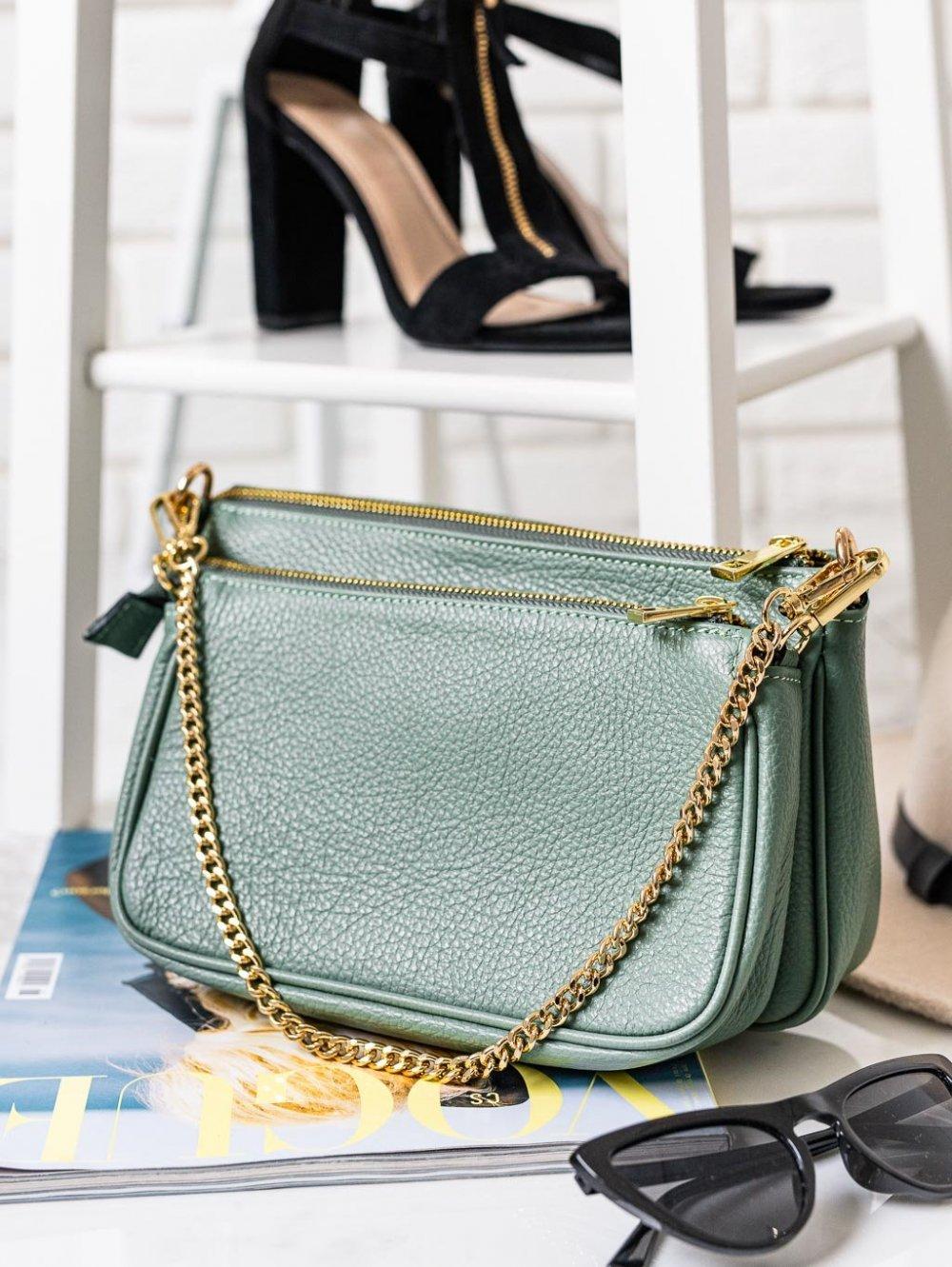 Zeleno-modrá kabelka Christin