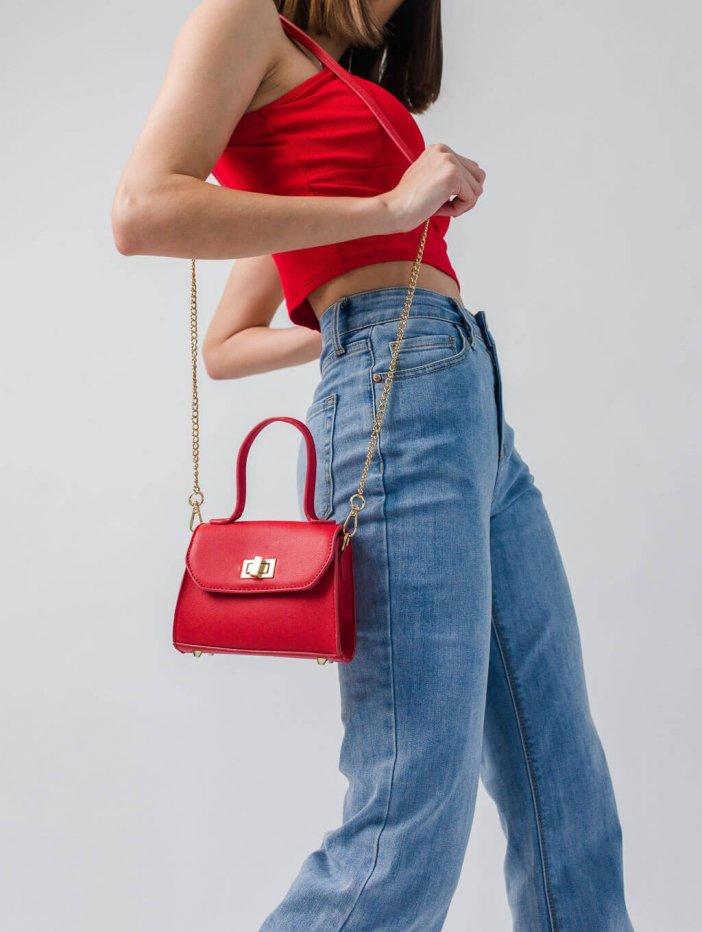 Červená kabelka Tama