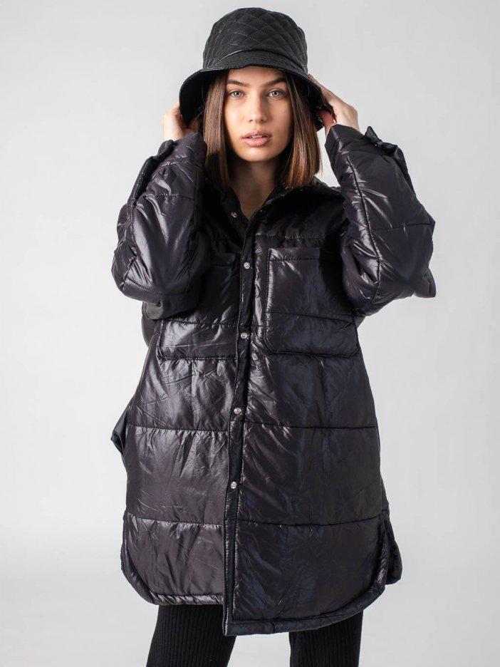 Čierna bunda Zoe