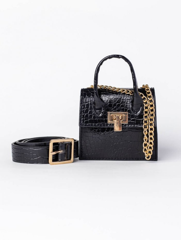 Čierna mini kabelka Kailee