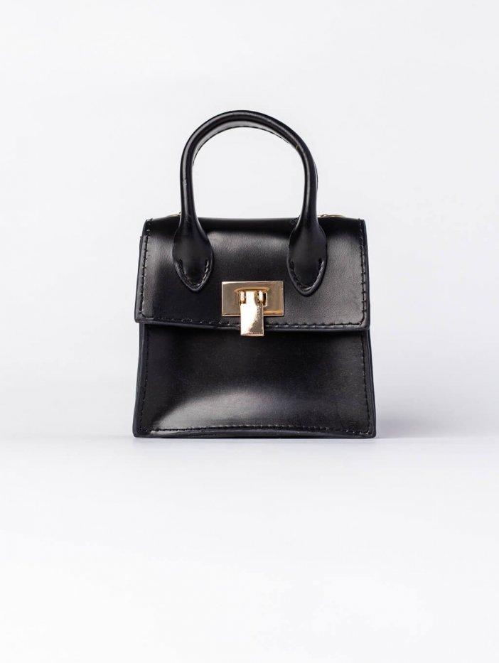 Čierna mini kabelka Kara