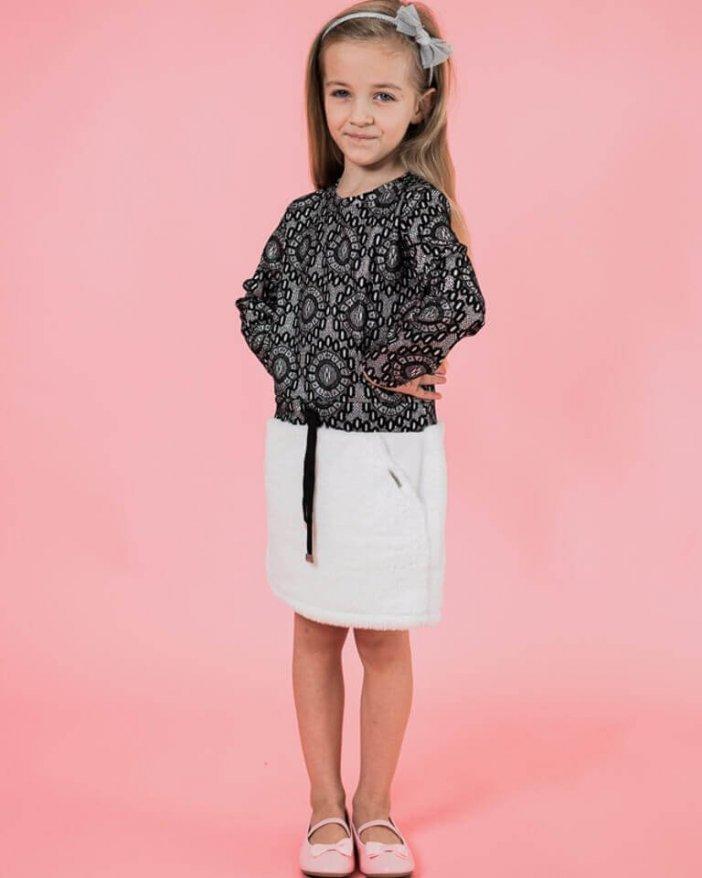 Čierno-biele detské elegantné šaty
