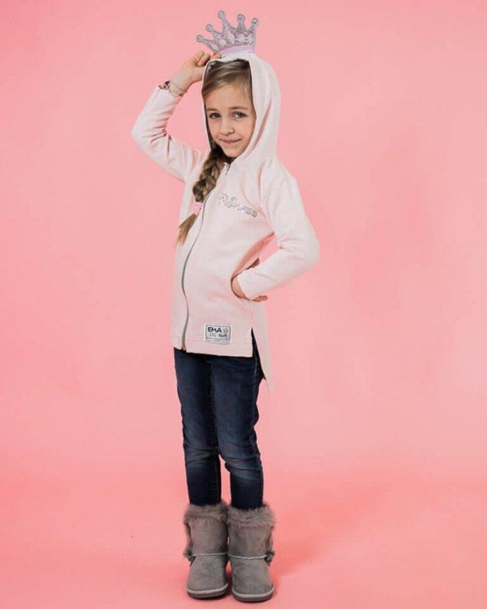 Ružová detská mikina princess
