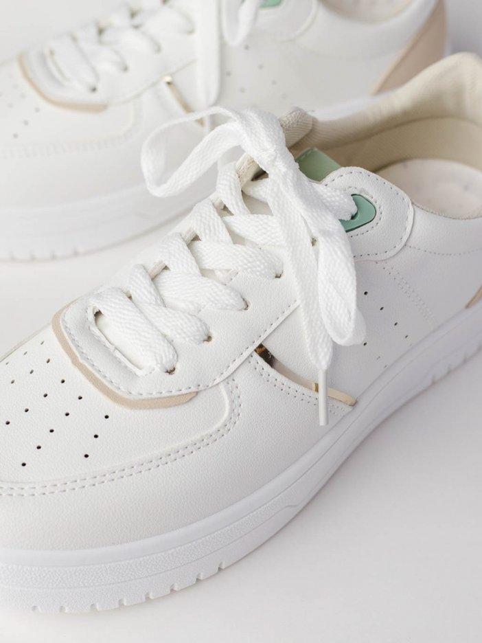 Bielo-zelené tenisky Tray
