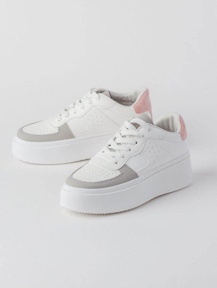 Bielo-ružové tenisky Charlie