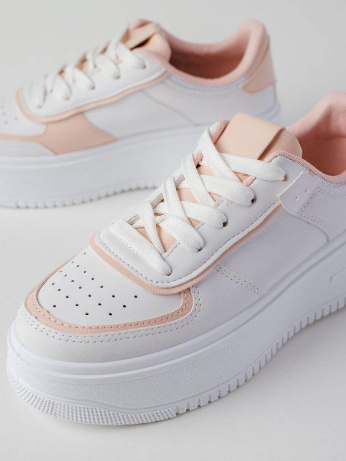 Bielo-ružové tenisky Leeyan