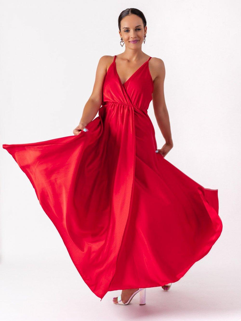 Červené šaty Lanna