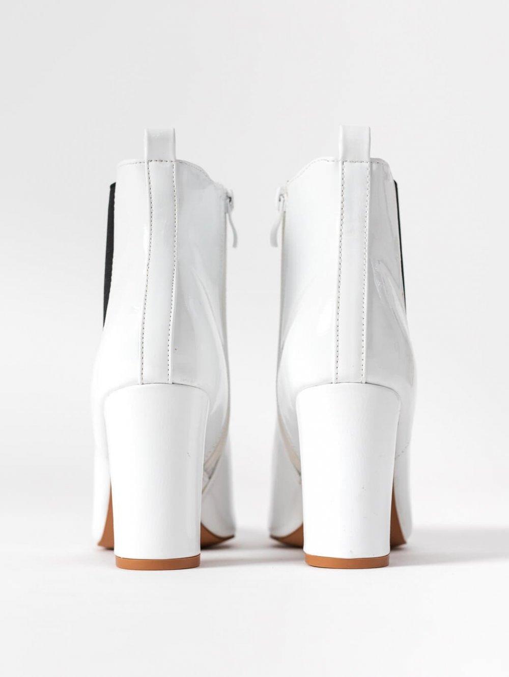 Biele členkové čižmy Dorea