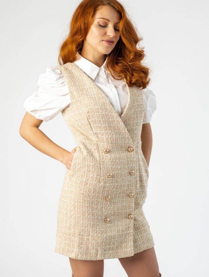 Béžové šaty Angella