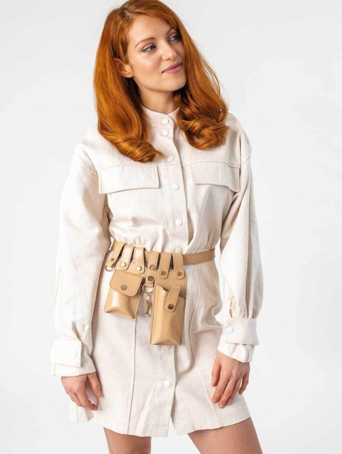 Béžové šaty Dorotha