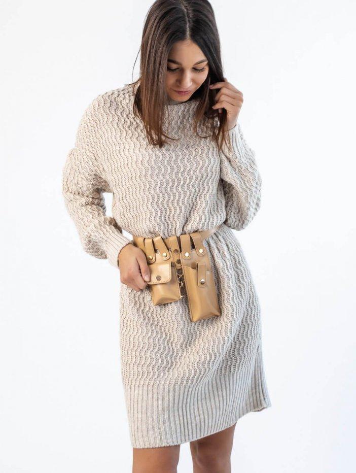 Béžové šaty Marie