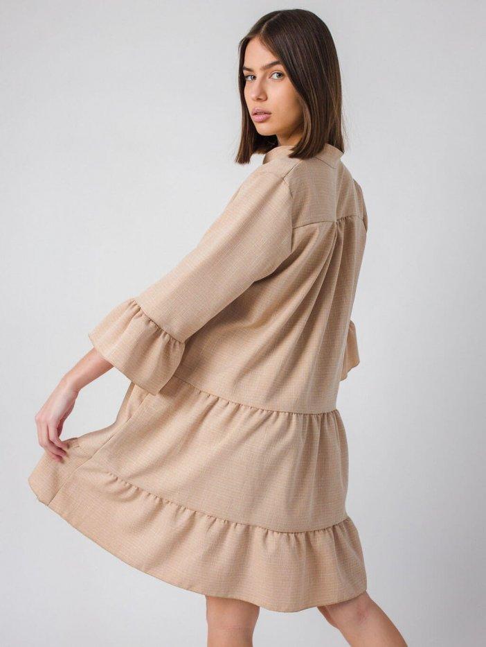 Béžové šaty Amani