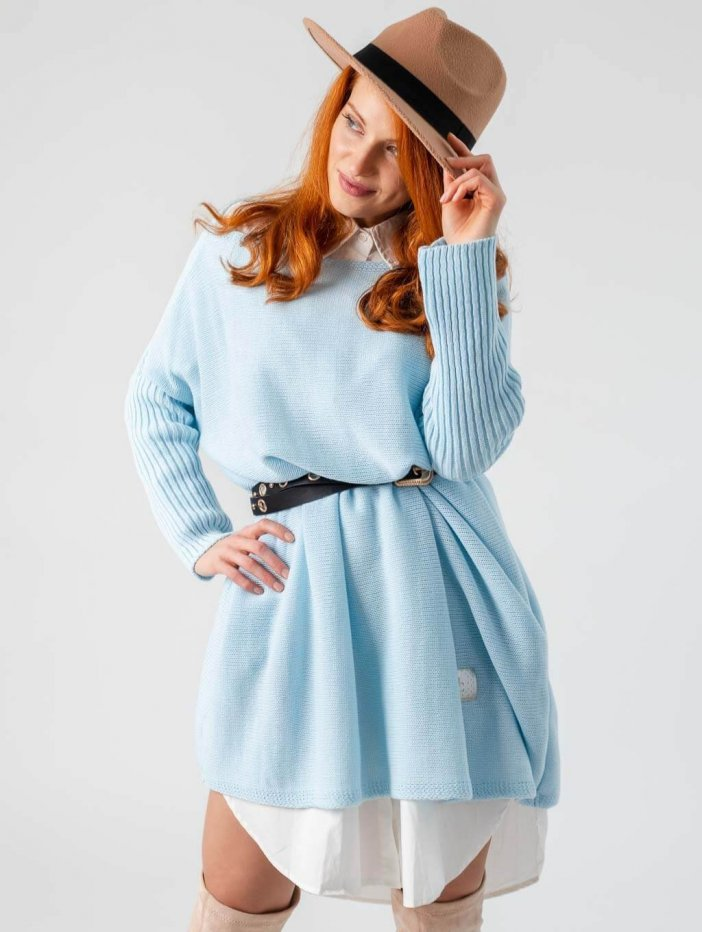 Modré šaty Estrella