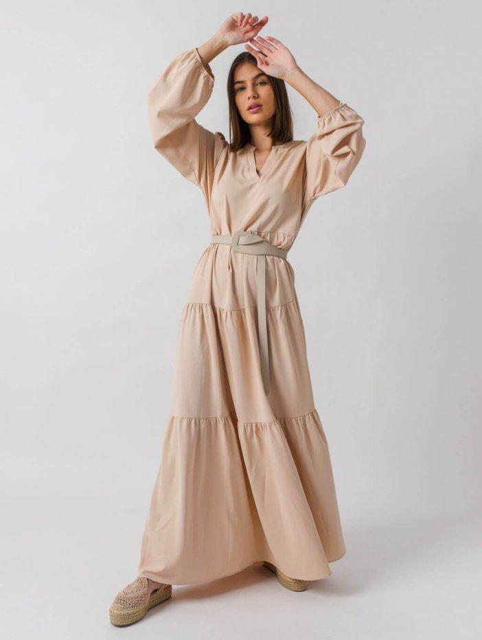 Béžové šaty Benita