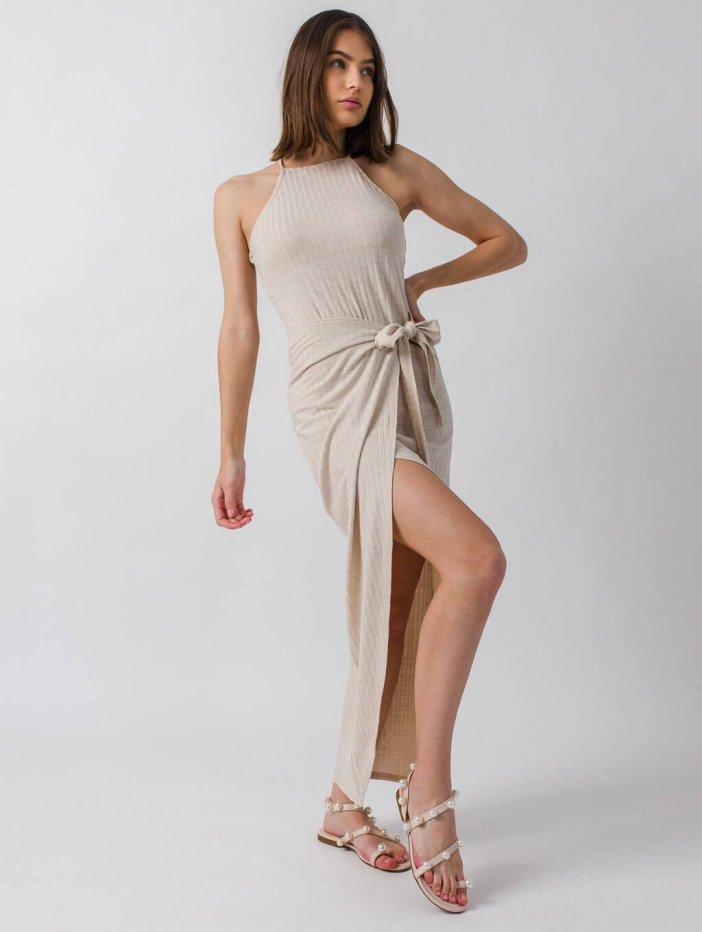Béžové šaty Berrie