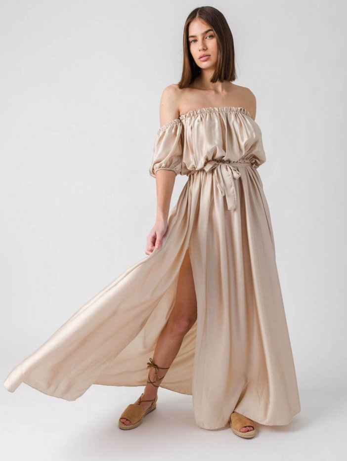 Béžové šaty Candice