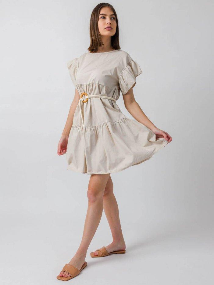 Béžové šaty Fina