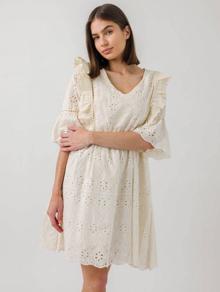 Béžové šaty Olivia