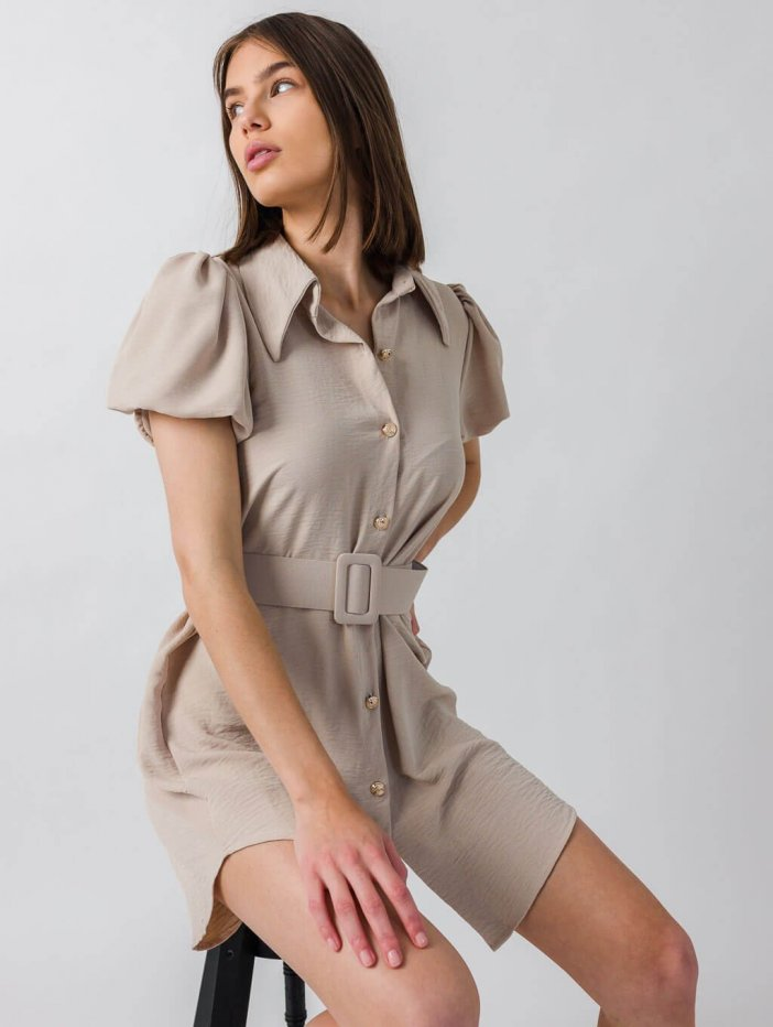 Béžové šaty Udine