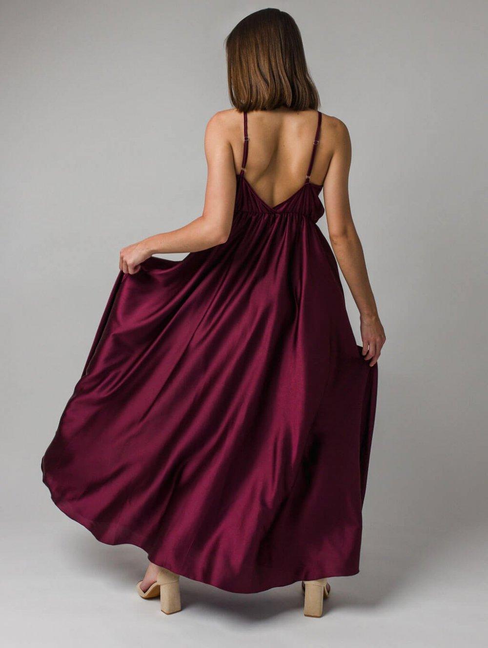 Bordové šaty Lanna