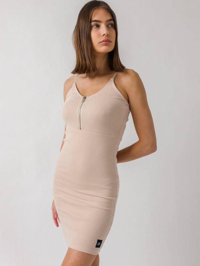 Béžové šaty Cheryl