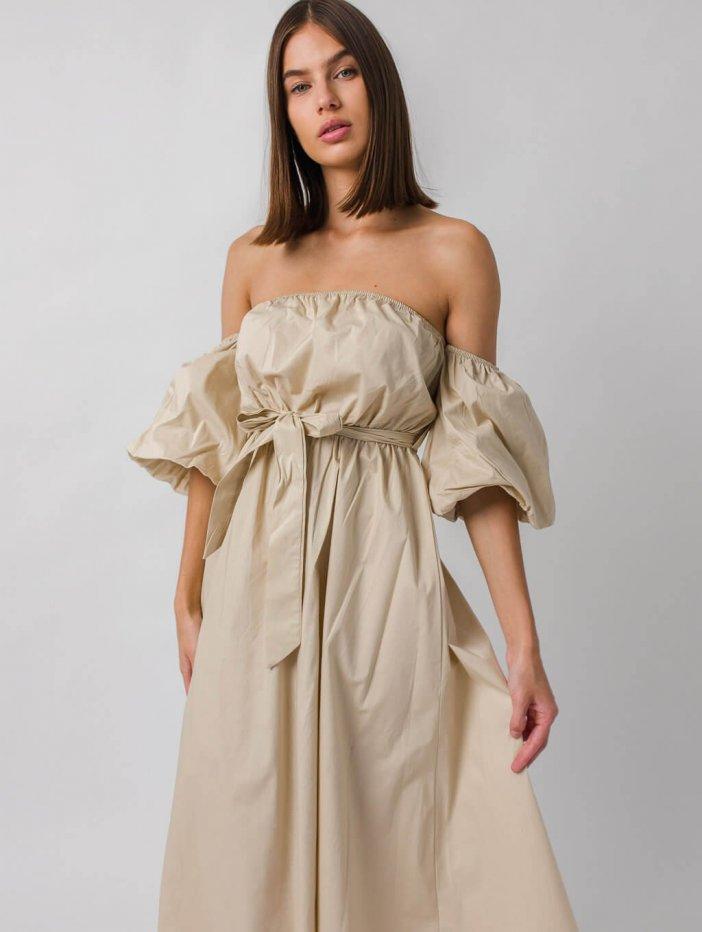 Béžové šaty Nethea