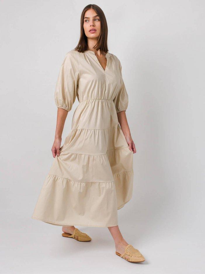 Béžové šaty Anasia