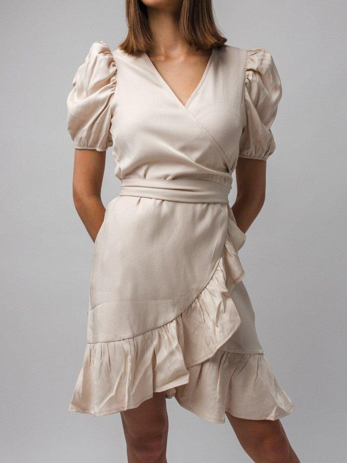 Béžové šaty Veronica
