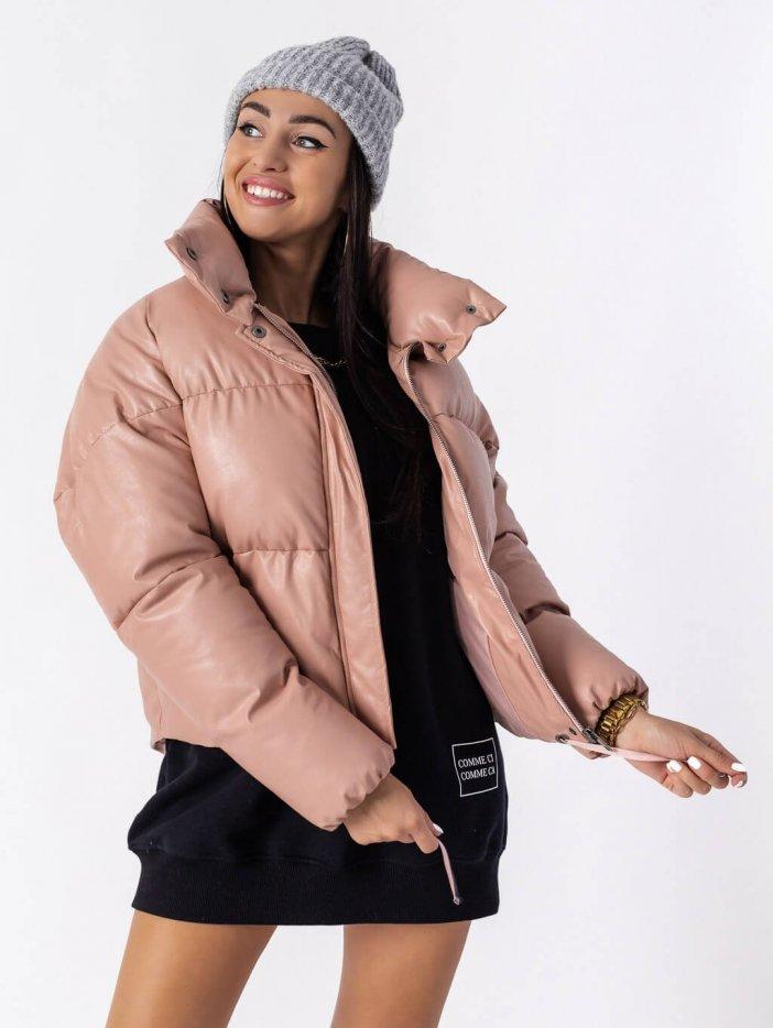 Ružová zimná bunda Gimy