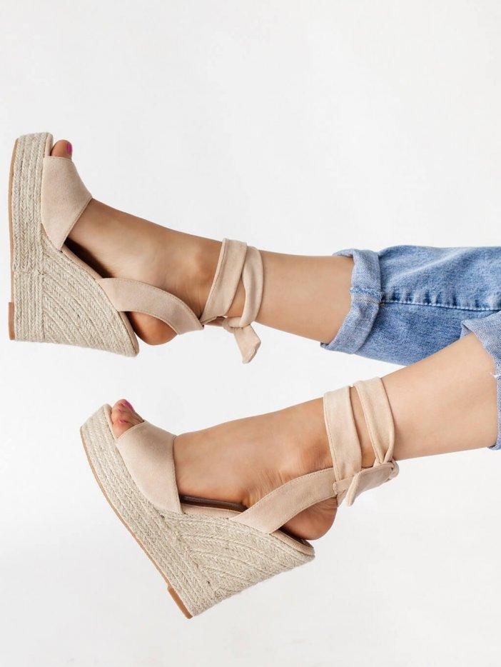 Béžové sandále Valentina