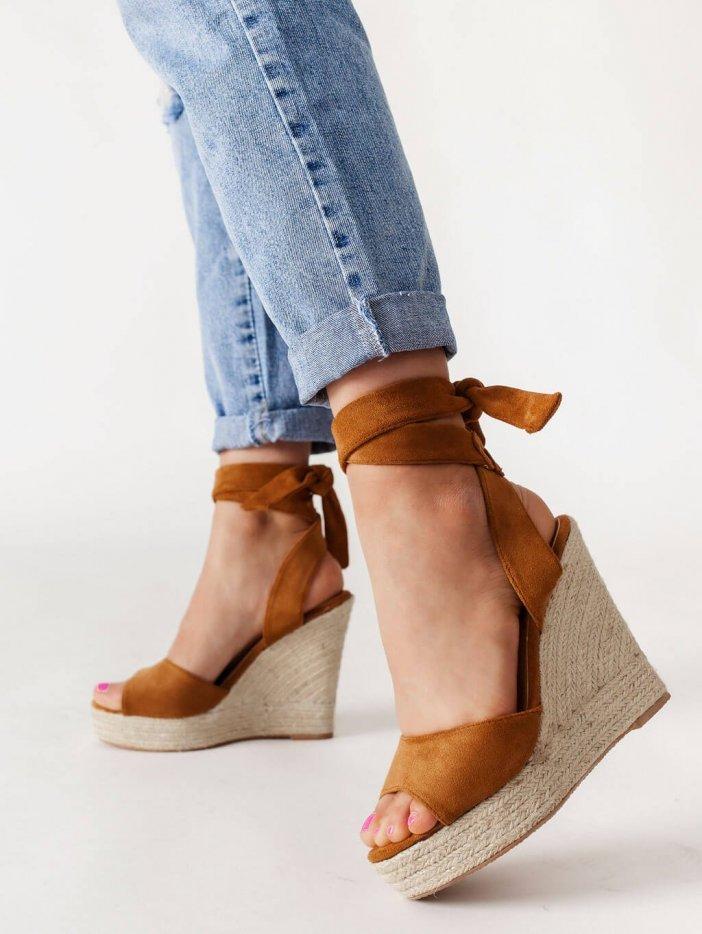 Hnedé sandále Valentina