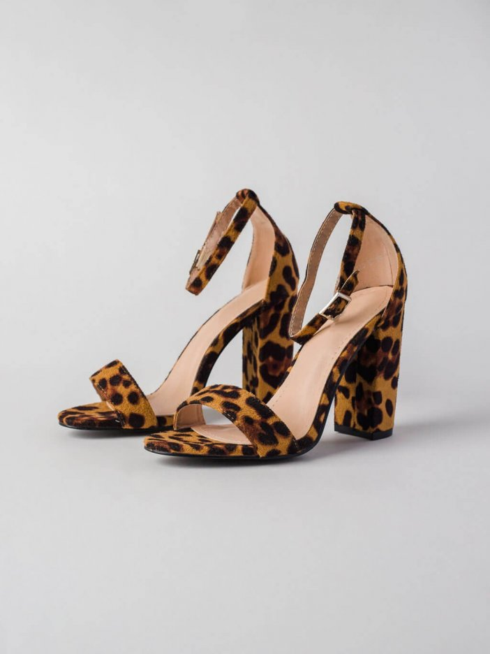 Leopardie sandále Twinn