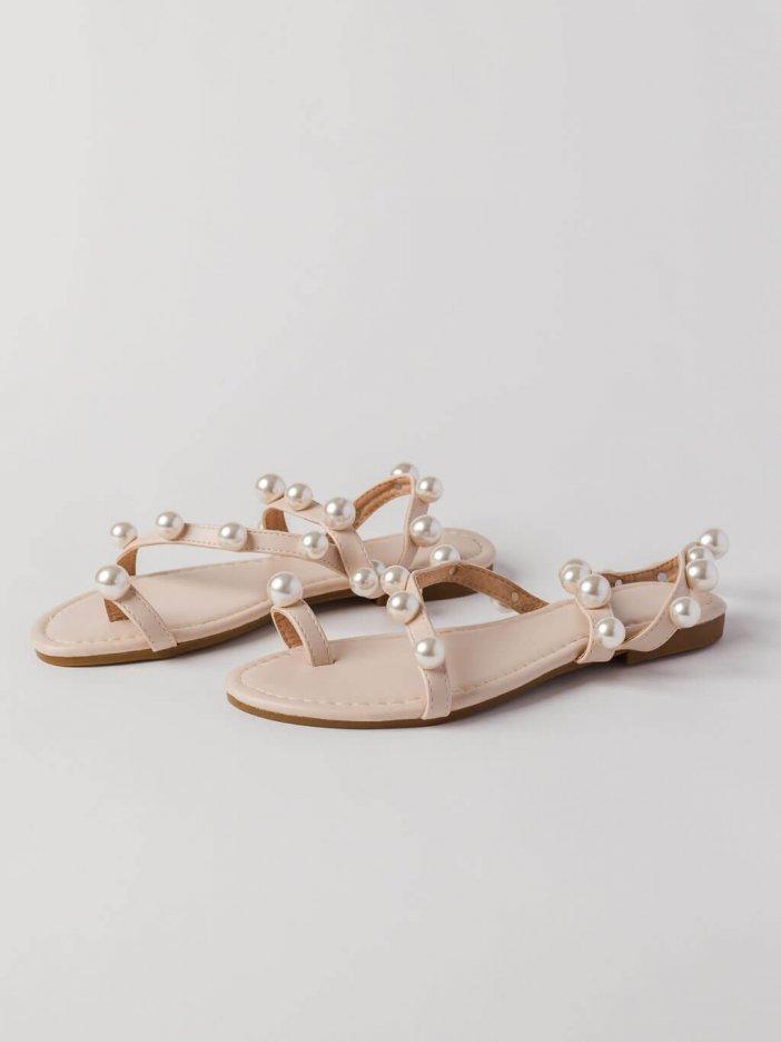 Béžové sandále Kristin
