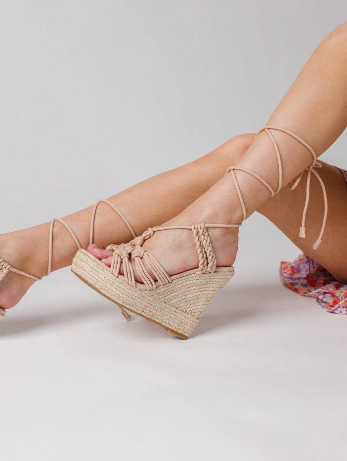 Béžové sandále Lenissa