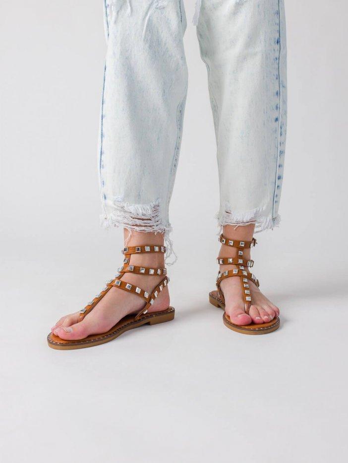 Hnedé sandále Zien