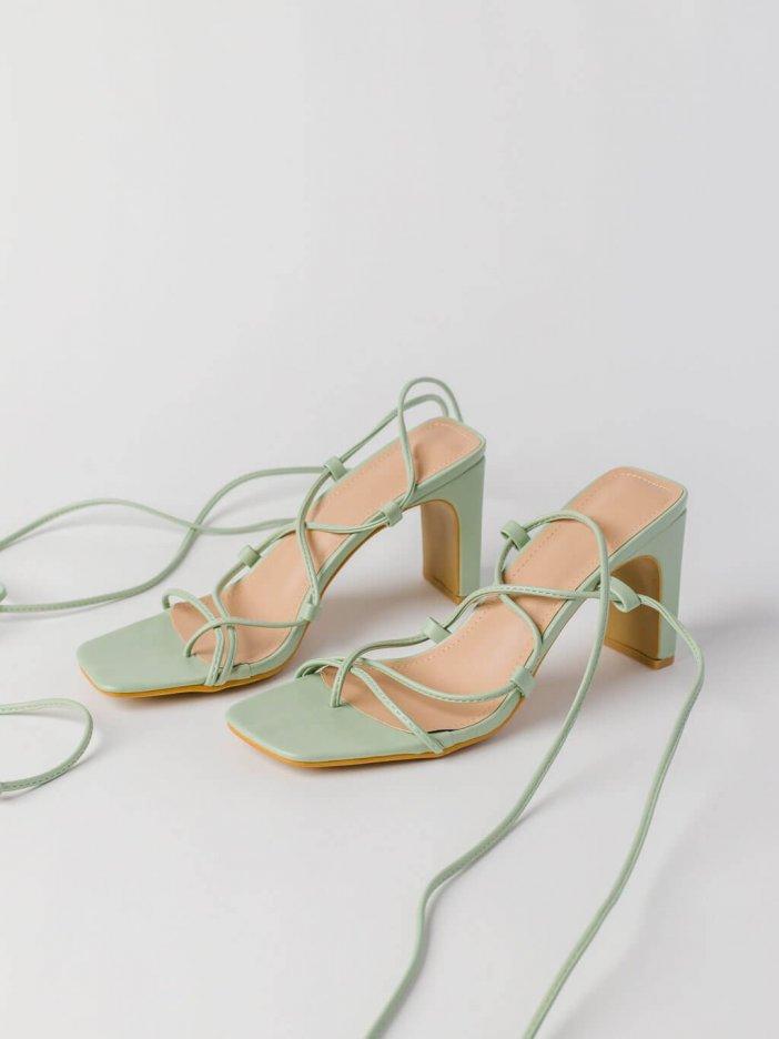 Zelené sandále Zee