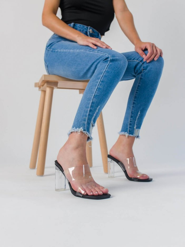 Transparentné sandále Zanna