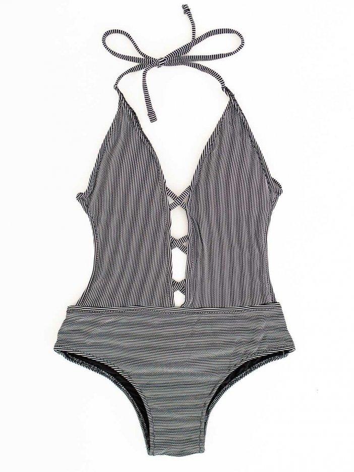 Čierne jednodielne plavky Riolla
