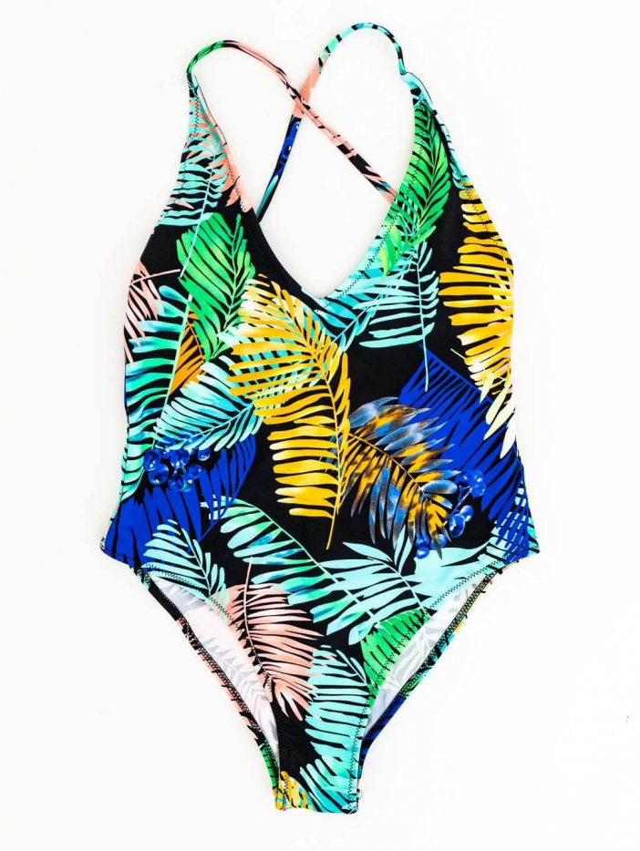 Farebné jednodielne plavky Cirella