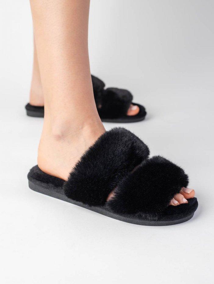 Čierne papuče Annie