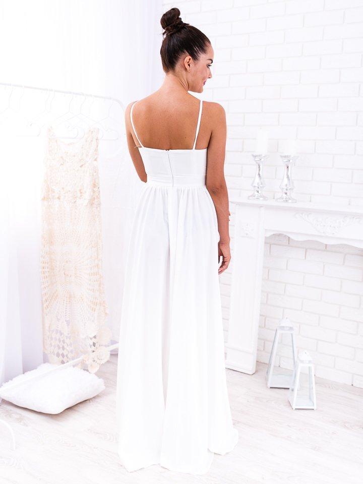 Biele dlhé spoločenské šaty Nina