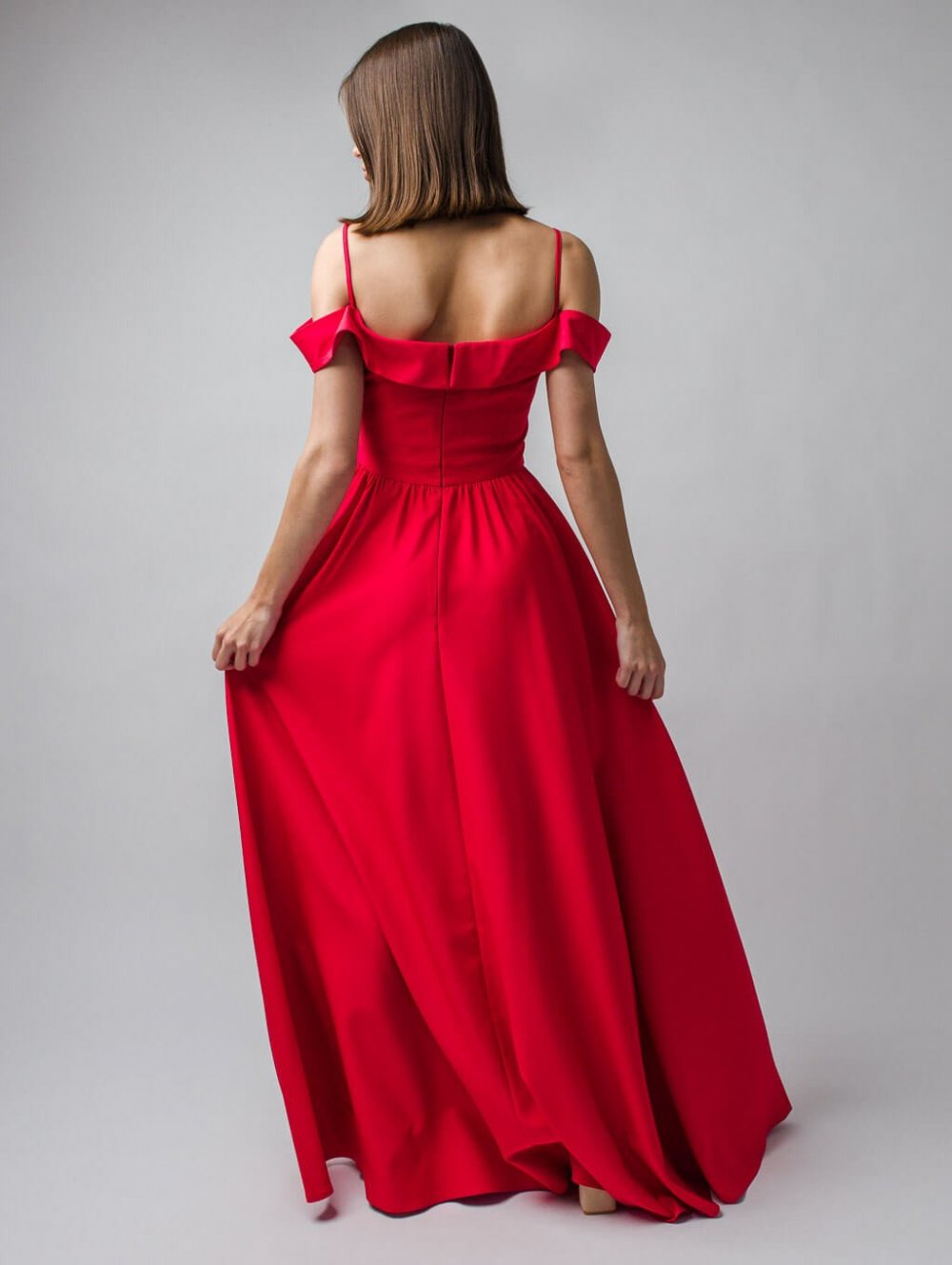 Červené dlhé spoločenské šaty Elisabeth
