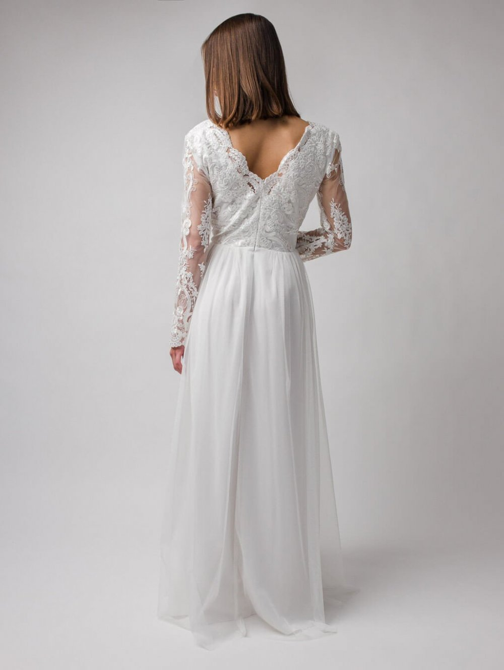 Biele dlhé spoločenské šaty Adel
