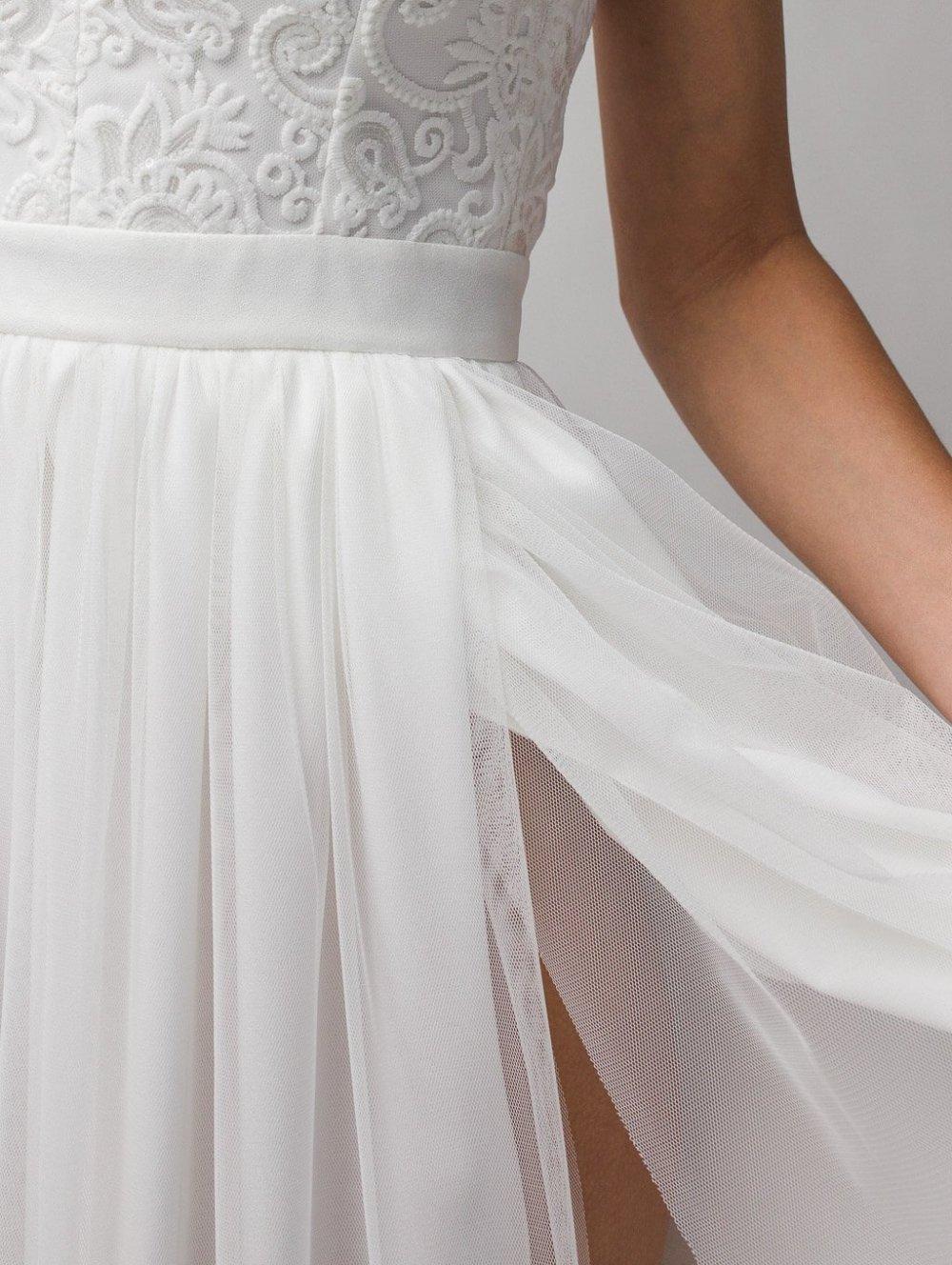 Biele dlhé spoločenské šaty Charlotte