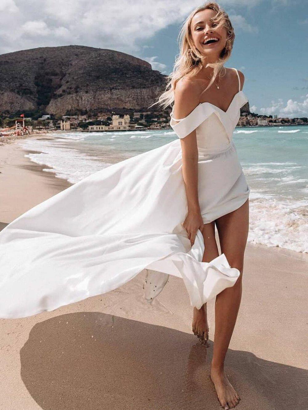 Biele dlhé spoločenské šaty Elisabeth