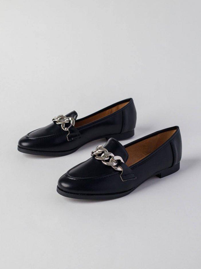 Čierne mokasíny Elegance