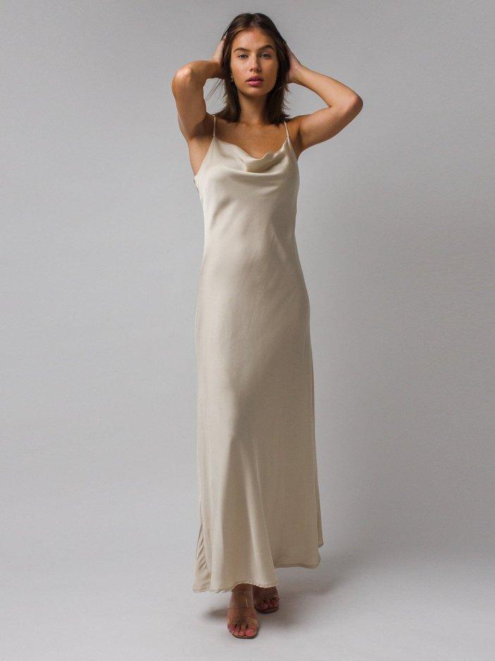Béžové šaty Nesia