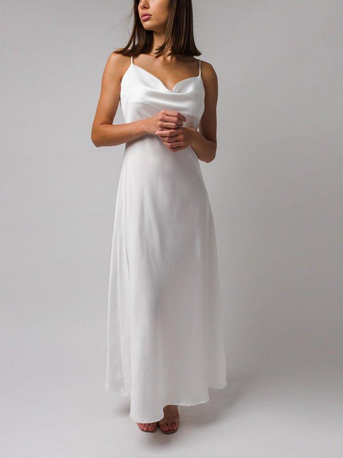 Biele šaty Nesia