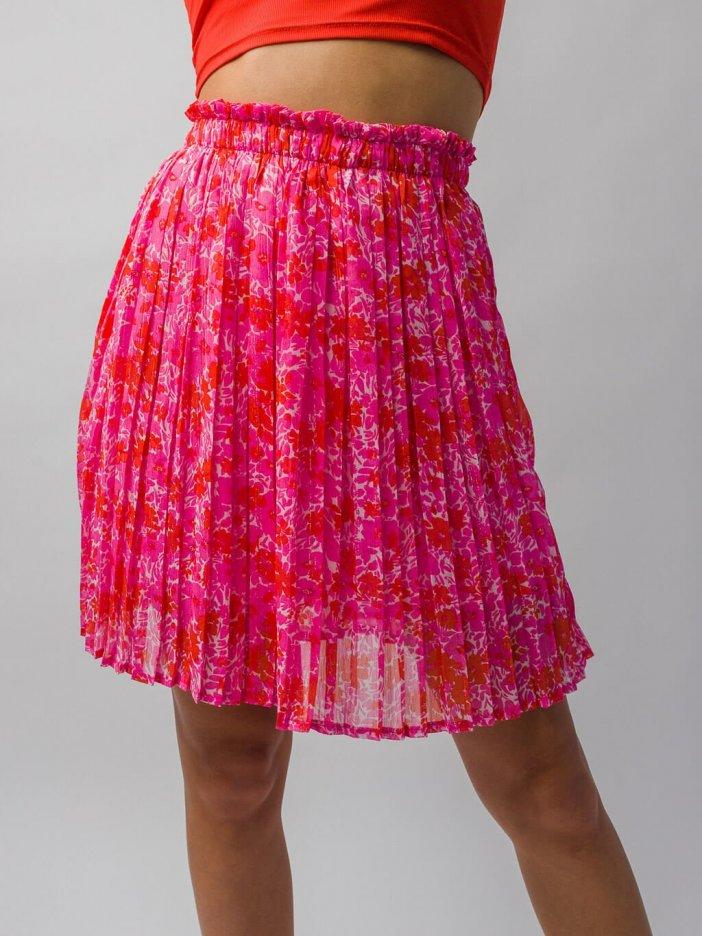 Ružovo-oranžová sukňa Romia