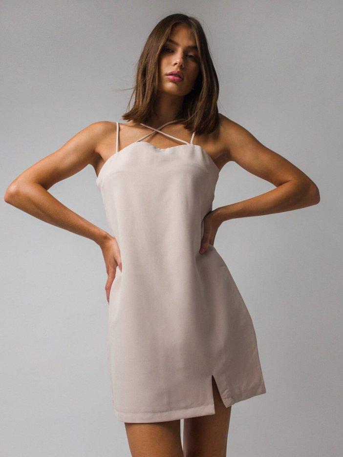 Béžové šaty Diva